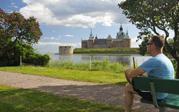 Summer relax in Swedish park Stock Photos