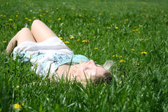 Summer relaxation royalty free stock photography