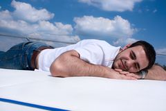Summer relaxation Stock Images