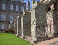 Architecture at Holyrood Palace Edinburgh, Scotland stock image