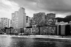 Summer resort Benidorm, Spain with beach Royalty Free Stock Images