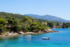 Summer resort of Halkidiki peninsula Royalty Free Stock Image
