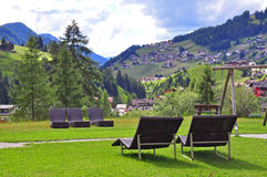 Summer resort in mountains Royalty Free Stock Images