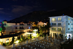 Summer resort by night Royalty Free Stock Images