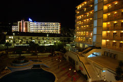 Summer resort at night,Spain Royalty Free Stock Photo