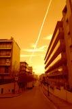 Summer resort sunrise street,Spain Royalty Free Stock Photos