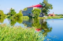 Summer resort. Villa Built in the bingjiang wetland,harbin,heilongjiang province,china Royalty Free Stock Image