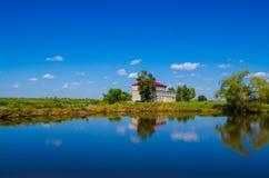 Summer resort. Villa Built in the bingjiang wetland,harbin,heilongjiang province,china Stock Image