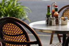 Summer restaurant Stock Images