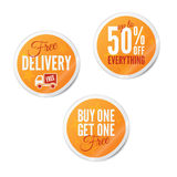 Summer Retail stickersSummer Retail Stickers Royalty Free Stock Images