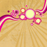 Summer retro background. Retro elements on grunge background- for your text Royalty Free Stock Images