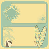 Summer retro background Royalty Free Stock Images