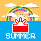 Summer Retro Card. Royalty Free Stock Images
