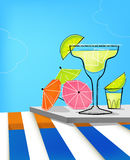 Summer Retro Cocktails vector illustration