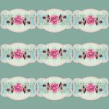 Summer retro floral pattern (roses) in the style shabby Chic, provence, boho. Royalty Free Stock Image
