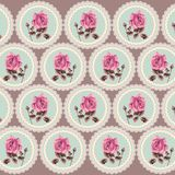 Summer retro floral seamless pattern (roses) in the style shabby Chic, provence, boho. Stock Images