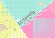 Summer with retro style texture pastel color, pattern and geomet Royalty Free Stock Photos