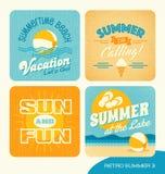 Summer retro typography designs Royalty Free Stock Photo