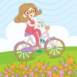 Summer ride bicycle. With friend Royalty Free Stock Photography