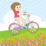 Summer ride bicycle  Royalty Free Stock Photography