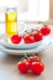 Summer ripe cherry tomatoes Royalty Free Stock Photos