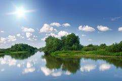 Summer river. Stock Photo
