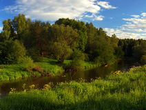 Summer river of Russia Stock Photo