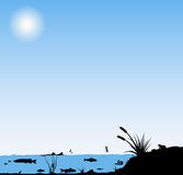 River life illustration Stock Images