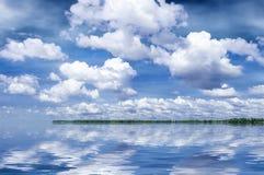 Summer river Volga stock photo