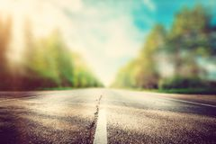 Summer road background. Blur effect royalty free stock image