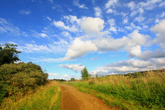 Summer road at Forth & Clyde Canal Stock Photography