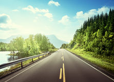 Summer road in mountain,  Norway Stock Image