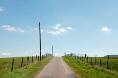 Summer roads in the English countryside. Royalty Free Stock Photos