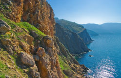 Summer rocks. Bright summer day in mountais near the sea Royalty Free Stock Images