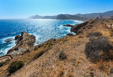 Summer rocky coastCosta Blanca, Spain. Royalty Free Stock Photography