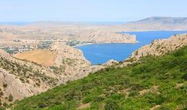 Summer rocky coastline (Crimea, Ukraine) Royalty Free Stock Photos