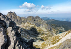 Summer rocky High Tatras mountains under blue sky Royalty Free Stock Photography
