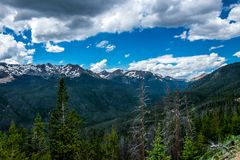 Summer in the Rocky Mountains. Rocky Mountain National Park, Colorado, United States. Summer trip to the US National Parks. Picturesque panorama of the Rocky Stock Photos