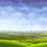 Summer rolling landscape Stock Images