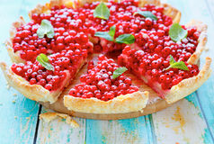 Summer round tart with currants Stock Image
