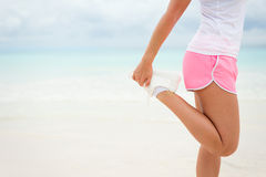 Summer running and fitness lifestyle concept background Stock Image
