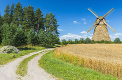 Summer rural landscape. The image was taken in Vidzeme - famous Latvian region for eco-tourism. Eco-tourism is a form of tourism involving visiting fragile Stock Image