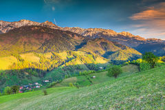 Summer rural landscape and wilderness near Bran, Transylvania, Romania, Europe Stock Photo