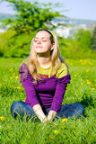 Summer's Day Meditation Royalty Free Stock Image