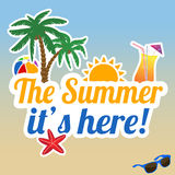 The summer it's here poster Stock Images