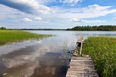 Summer's lake scenery Stock Photography