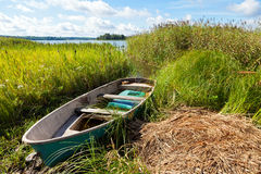 Summer's Russian lake scenery Stock Photography