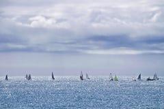Summer Sailing - Lyme Regis Stock Photography
