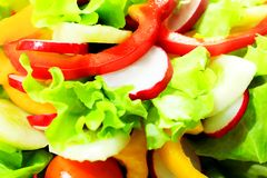 Summer salad Stock Photos