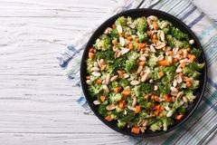 Summer salad with broccoli and peanuts closeup horizontal top vi Stock Photography